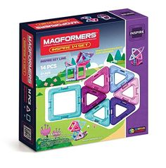 Magformers Inspire 14 Piece Set (Girls), 2015 Amazon Top Rated Activity #Toy