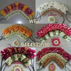 Trendy Indian Bridal Hair Style With Flowers Wedding Hairs Bridal Hairstyle Indian Wedding, Bridal Hair Buns, Bridal Hairdo, Indian Wedding Hairstyles, Flower Garland Wedding, Wedding Hair Flowers, Bridal Flowers, Flowers In Hair, Hair Wedding