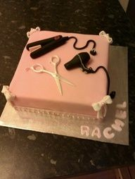 hairdresser cake, so cool