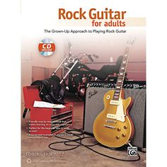 Alfred Rock Guitar for Adults Book & CD