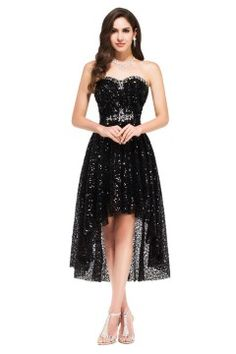 robe de bal courte Picture - More Detailed Picture about Grace Karin 2017  Black High Low Prom Dresses Short Front Long Back Prom Dresses Sexy Sequin  Party ... 08d74f45d9ec