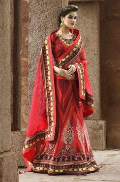 Wedding Wear Designer Digital Print Lehenga Choli