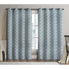 for E's nursery?  VCNY Alexander Grommet Top 96-inch Blackout Printed Curtain Panel Pair