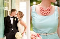 Coral and teal wedding | Photo by Katelyn James Photography