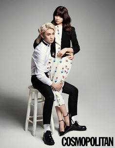 SHINee's Key and the Japanese model Yagi Alissa filmed a photo shoot together. http://www.kpopstarz.com/tags/shinee Fashion Shoot, Kpop Fashion, We Got Married Couples, We Get Married, Cosmopolitan Magazine, Couple Posing, Couple Photos, Romantic Couples, Wedding Couples