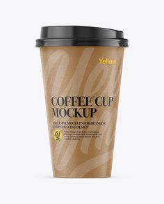 Paper Coffee Cup Mockup - Front View
