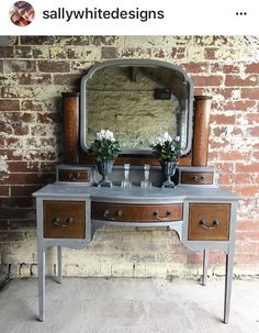 Upcycled Dressing Table | #UpcycledDressingTable | #PaintedFurniture | #PaintedFurniture