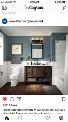 Bathroom decor for the bathroom remodel. Learn master bathroom organization, bathroom decor ideas, bathroom tile ideas, master bathroom paint colors, and more. Small Bathroom Ideas On A Budget, Bathroom Design Small, Small Bathrooms, Budget Bathroom, Bathroom Renovations, Bath Design, Bathroom Designs, Rental Bathroom, Decorating Bathrooms