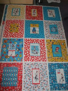 'Cat in the Hat' quilt by @Style Space & Stuff Blog Denney