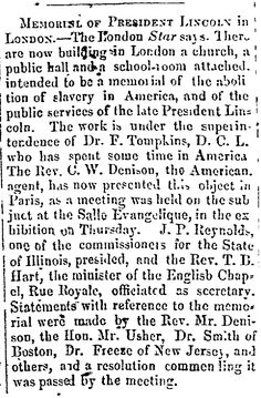 Memorial of President Lincoln in London: This article from the San Antonio Express cites an article from the London Star, purporting that a memorial was being built in London to honor of President Lincoln and the abolition of slavery in the United States. Abraham Lincoln Family, Lincoln Assassination, Types Of Fiction, Victorian Life, Seven Years Old, Soda Fountain, Condolences, Historical Romance, To Tell