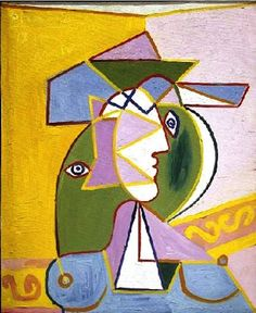 Pablo Picasso - Woman in a Hat (Marie-Thérèse Walter), 1934. Oil on canvas. Hirshhorn Museum and Sculpture Garden, Smithsonian Institution, Washington, D.C., USA