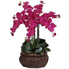 nearly natural Silk Phalaenopsis Large Floral Arrangement,