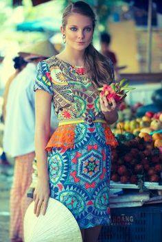Sunchart Peplum Dress, Anthropologie