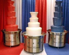 We rent Chocolate Fountain machines and sell colored chocolate