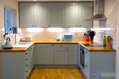 An Innova Clayton Cornflower Blue Shaker Kitchen.