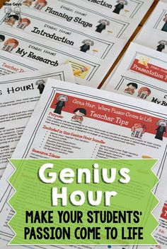 Fire up your students' passions with the Genius Hour! It's a guaranteed hit with your students.