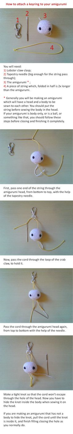 How to Attach a Keyring to your Amigurumi