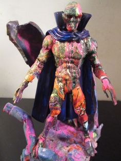 ABSTRACT custom hand painted figure and base by artist musk yai marvel dc #Unbranded