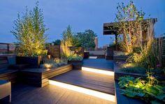Lighting on roof terrace