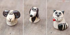 Kleine Tiere im Keramik-Shop.