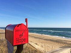 3/30/31: High 60°, Ocean 52° Beautiful morning to take in the salt air and leave a message of hope at the Little Red Mailbox!