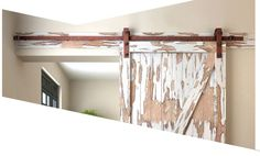 Schuifdeur Systeem Staal met een Antiek Finish. Decor, Furniture, Loft, Loft Bed, Home Decor, Curtains