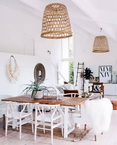 The Modern Dining Room For The Fashionable Girl White and Wood Dining room