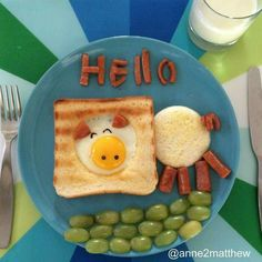 Desayuno para niño...  muy creativo