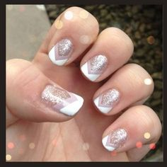 shimmery nails