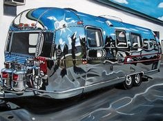 Offical website of fine artist Taralee Guild. Airstream Travel Trailers, Vintage Travel Trailers, Camper Trailers, Retro Campers, Happy Campers, Vintage Campers, Vintage Airstream, Vintage Caravans, Airstream Renovation