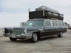 Never see a hearse with a roof rack