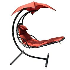 Details about hanging chaise lounger canopy chair arc for Anti gravity suspension chaise lounger