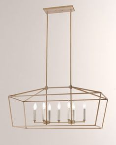 Shop Fairfax Satin Nickel Island Light at Horchow, where you'll find new lower shipping on hundreds of home furnishings and gifts. Lighting Sale, Interior Lighting, Home Lighting, Caracole Furniture, Modern Farmhouse Design, Open Frame, Island Lighting, Bulb, Satin