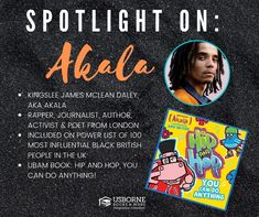 Akala - Black Authors from Usborne Books & More - Jaime's Book Corner Black Authors, British People, Book Corners, You Can Do Anything, Positive Messages, Read Aloud, Worlds Of Fun, Nonfiction Books, Story Time