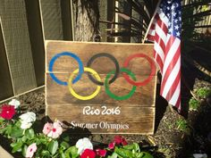 Olympic Sign wood pallet sign olympic gift Rio 2016 by Sipandsign