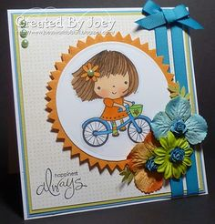 Mimi on bike