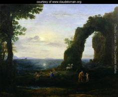 The Origin of Coral or Perseus with Head of the Medusa - Claude Lorrain (Gellee) - www.claudelorrain.org