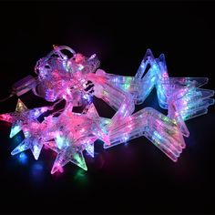12 Stars Multi-color LED Curtain Fairy String Lights Window Curtain Icicle Lighting Five-pointed Star Styled, with Tail Plug, Used for Christmas, Parties, Wedding, Festival Decorations (Christmas String Lights ) Icicle Lights, String Lights Outdoor, Festival Decorations, Christmas Decorations, Christmas Parties, Christmas String Lights, Curtain Lights, Cute Stars, Playground