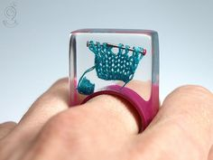 Knitting extraordinary knitting ring with by GeschmeideUnterTeck