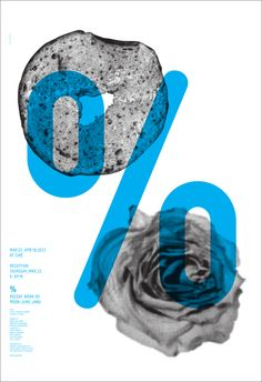 Typographic poster design by Moon Jung Jang