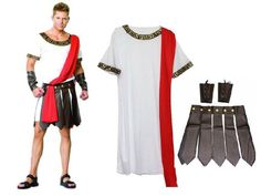 Ancient Roman costume party Masquerade mask ball men costume gladiators knight Julius Caesar adult cosplay theme cotume