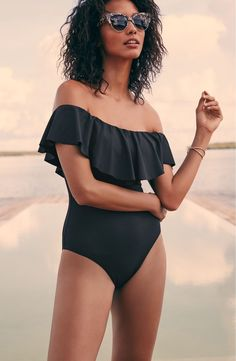 5394dc5ff2f94 Trina Turk Off the Shoulder One-Piece Swimsuit