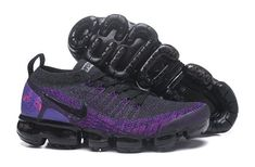 253c13f7d1 Original Nike Air VaporMax Flyknit 2 Dark Grey Purple 942842 600 Sneakers  Women's Men's Running Shoes