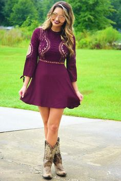 Look Into Your Heart Dress: Merlot/Nude