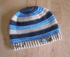 Čepičky pro kluky | Jarní a podzimní čepičky | Háčkovaná čepice | háčkované čepičky, výroba šperků z bižuterie Crochet Cap, Baby Boy Hats, Crochet For Boys, Kids Hats, Crochet Projects, Headbands, Beanie, Knitting, Knitting And Crocheting