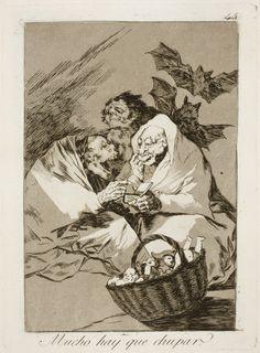 """Francisco de Goya: """"Mucho hay que chupar"""". Serie """"Los caprichos"""" [45]. Etching and aquatint on paper, 204 x 149 mm, 1797-99. Museo Nacional del Prado, Madrid, Spain"""