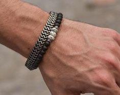 Mens Gold Bracelets, Mens Silver Necklace, Men Necklace, Beaded Bracelets, Guy Bracelets, Necklaces, Guy Jewelry, Boho Jewelry, Jewelry Gifts