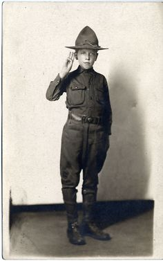 Charles Lindbergh in his Boy Scout uniform, July 1911.