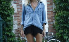 Wanted: the perfect denim shirt. For double denim, for a casual edge to cigarette pants and heels, and for summer layering with cute dresses.