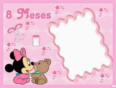 Minnie Bebé: Album de Fotos para Imprimir Gratis. Clash Royale, Blogger Templates, Minnie Mouse, Birthday, Kit, Baby Girls, Alphabet, Paper, Love